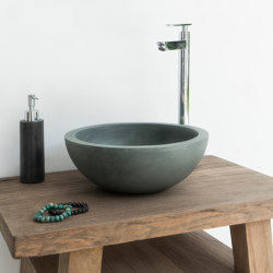 Palermo Copper Green Concrete Basin - Sink - Vessel - Washbasin | Wash basins | ConSpire
