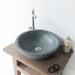 Palermo Grande Copper Green Concrete Basin - Sink - Vessel - Washbasin   Wash basins   ConSpire