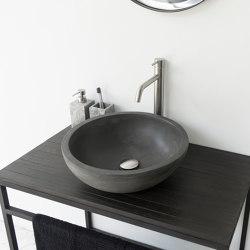 Palermo Grande Dusk Grey Concrete Basin - Sink - Vessel - Washbasin   Wash basins   ConSpire