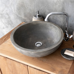 Palermo Grande Naturel Concrete Basin - Sink - Vessel - Washbasin   Wash basins   ConSpire