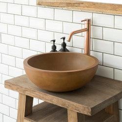 Palermo Grande Vintage Brown Concrete Basin - Sink - Vessel - Washbasin | Wash basins | ConSpire