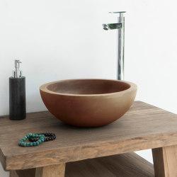 Palermo Vintage Brown Concrete Basin - Sink - Vessel - Washbasin | Wash basins | ConSpire