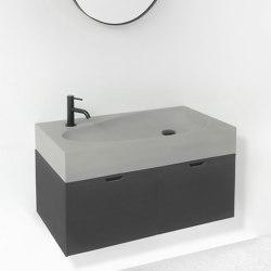 Sol Light Grey Concrete - Bathroom Sink | Wash basins | ConSpire