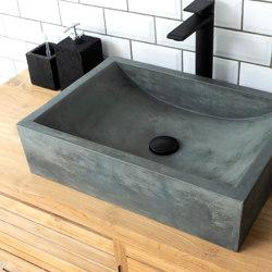 Torino Copper Green Concrete Basin - Sink - Vessel - Washbasin   Wash basins   ConSpire