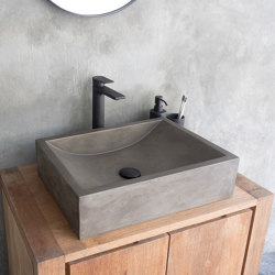 Torino Dusk Grey Concrete Basin - Sink - Vessel - Washbasin | Wash basins | ConSpire