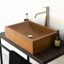 Torino Vintage Brown Concrete Basin - Sink - Vessel - Washbasin   Wash basins   ConSpire