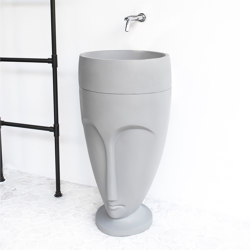 Viso Pedestal Light Grey Concrete Washstand | Wash basins | ConSpire