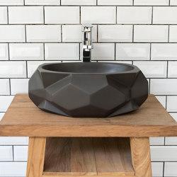Diamond Medio Dark Grey Concrete Basin - Sink - Vessel - Washbasin | Wash basins | ConSpire