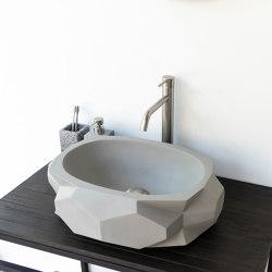 Diamond Medio Light Grey Concrete Basin - Sink - Vessel - Washbasin | Wash basins | ConSpire