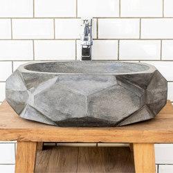 Diamond Medio Natural Concrete Basin - Sink - Vessel - Washbasin | Wash basins | ConSpire