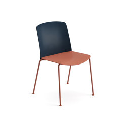 Mixu | Chair 4 legs stackable | Chairs | Arper