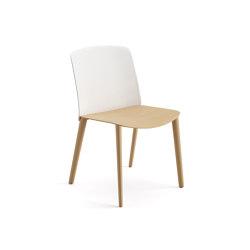 Mixu | Chair 4 wood legs | Chairs | Arper