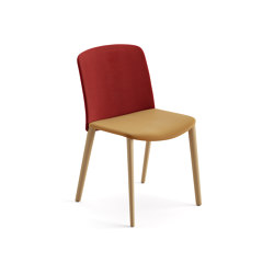 Mixu | Chair 4 wood legs, upholstered | Chairs | Arper