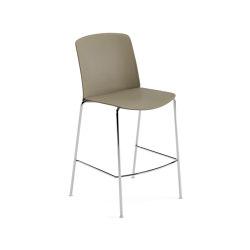 Mixu | Counter stool 4 legs stackable | Bar stools | Arper