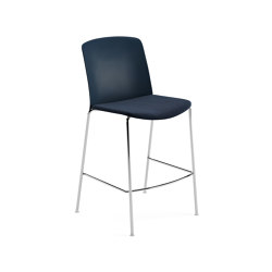 Mixu | Counter stool 4 legs stackable, upholstered | Bar stools | Arper