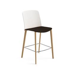 Mixu | Counter stool 4 wood legs | Bar stools | Arper