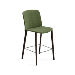 Mixu | Counter stool 4 wood legs, upholstered | Bar stools | Arper