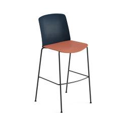 Mixu | Bar stool 4 legs stackable | Bar stools | Arper