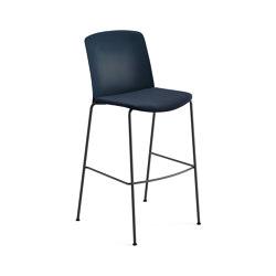 Mixu | Bar stool 4 legs stackable, upholstered | Bar stools | Arper