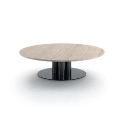 Goya Petite table D. 120- Version ronde avec plateau en travertin | Tables d'appoint | ARFLEX