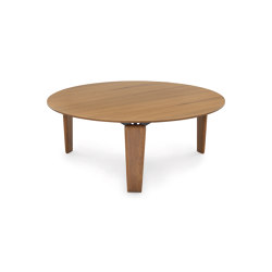 Tablet Small Table 80 H. 31 - Version with Wooden Top painted walnut Canaletto   Coffee tables   ARFLEX