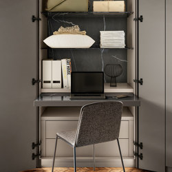 Home Office - Space-saving ideas for Bedroom - N.O.W. Wardrobe   Cabinets   LAGO