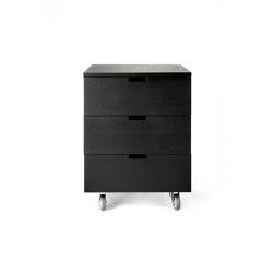 Billy | Oak black drawer unit - 3 drawers - varnished | Pedestals | Ethnicraft