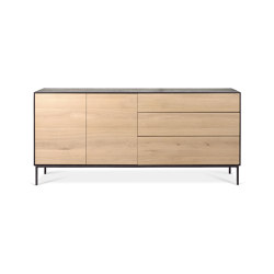 Blackbird | Oak sideboard - 2 doors - 3 drawers - varnished | Aparadores | Ethnicraft