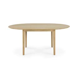 Bok | Oak round extendable dining table | Tavoli pranzo | Ethnicraft
