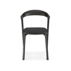 Bok | Oak black dining chair - black leather - varnished | Chairs | Ethnicraft