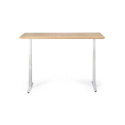 Bok   Oak adjustable desk - white frame - EU   Tavoli contract   Ethnicraft