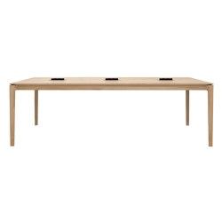 Bok | Oak cowork desk - CEE7/5 (FR, BE, PL, CZ, …) - varnished | Contract tables | Ethnicraft