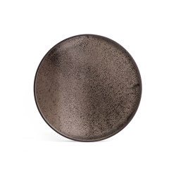 Classic tray collection | Bronze mirror tray - round - XL | Trays | Ethnicraft