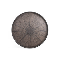 Classic tray collection | Black Slice wooden tray - round - XL | Trays | Ethnicraft