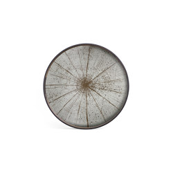 Classic tray collection | Slice mirror tray - light aged - round - S | Trays | Ethnicraft