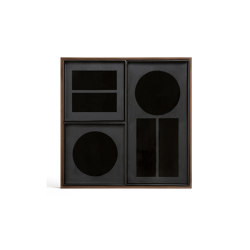 Classic tray collection | Charcoal desk organiser - walnut holder | Trays | Ethnicraft