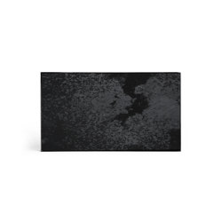 Classic tray collection | Charcoal mirror valet tray - black metal rim - rectangular - M | Trays | Ethnicraft