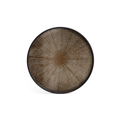 Classic tray collection | Bronze Slice mirror tray - not aged - round - L | Trays | Ethnicraft