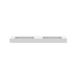 Layers   Solid surface top - 2 integrated washbasins   Vanity units   Ethnicraft