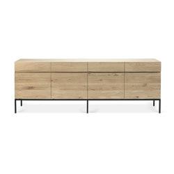 Ligna | Oak sideboard - 4 doors - 4 drawers - black metal legs | Sideboards | Ethnicraft