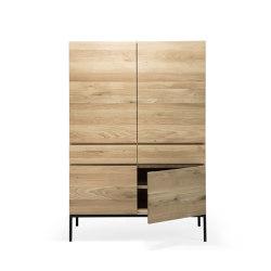 Ligna | Oak storage cupboard - 4 doors - 2 drawers - black metal legs | Cabinets | Ethnicraft