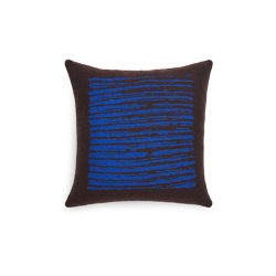 Mystic Ink collection | Brown Lines cushion - square | Cuscini | Ethnicraft