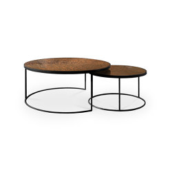 Nesting | Bronze Copper coffee table - set of 2 | Nesting tables | Ethnicraft