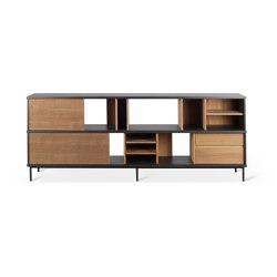 Oscar | Teak sideboard - 2 sliding doors - 3 drawers | Sideboards | Ethnicraft