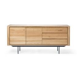 Shadow | Oak sideboard - 2 doors - 3 drawers - black metal legs | Aparadores | Ethnicraft
