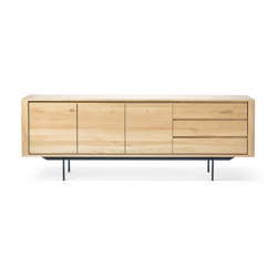 Shadow | Oak sideboard - 3 doors - 3 drawers - black metal legs | Credenze | Ethnicraft