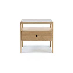 Spindle | Oak bedside table - 1 drawer - varnished | Night stands | Ethnicraft