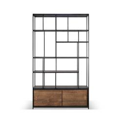 Studio | Teak rack - 2 sliding doors | Estantería | Ethnicraft