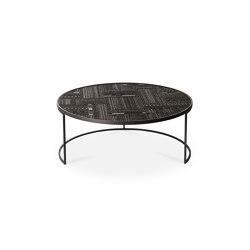 Tabwa | Teak round nesting black coffee table - set of 3 - varnished | Coffee tables | Ethnicraft
