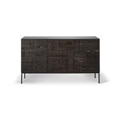 Tabwa | Teak black sideboard - 3 doors - varnished | Aparadores | Ethnicraft
